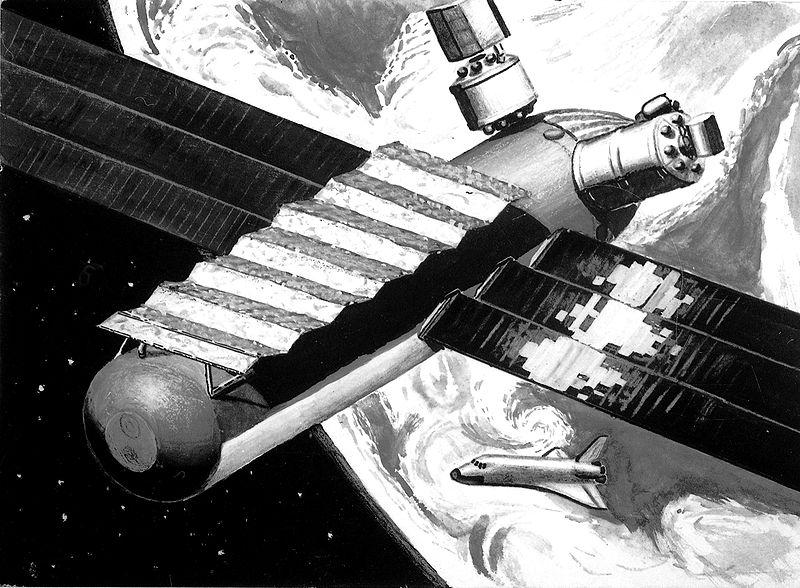 Kresba projektu Perun z práce pro IAC 1979 (autor: Michal Kirschner)