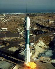 Start rakety Delta 2 s družicemi Iridium