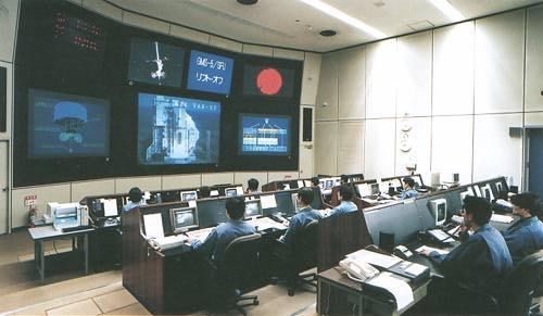 Řídicí středisko na kosmodromu Tanegašima