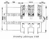 Rozměry půdorysu VAB