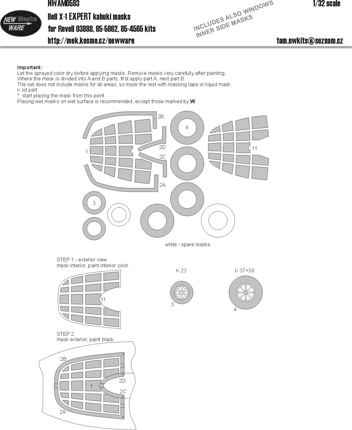 NWAM0182 New Ware 1//48 scale Suchoj Su-25 UB//UBK EXPERT paint masks for Smer