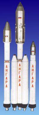 Zleva: Angara-1.2, Angara-5, Angara-1.1