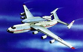 Model miniraketoplánu MAKS se vzdušným startem