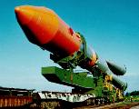 Převoz rakety Molnija na rampu (08.06.1989)