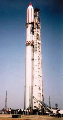 Raketa Zenit na startovací rampě