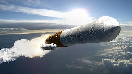 Start rakety Ares 5 (kresba)