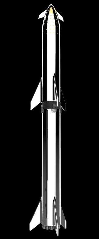 Kresba rnerezové verze rakety BFR