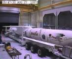 Příprava rakety Pegasus ke startu s družicí FORTE