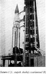 Nosná raketa Saturn Saturn 1 (1. stupeň shodný s variantou 1 B)