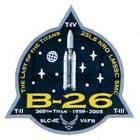Emblém poslední mise rakety Titan 4B