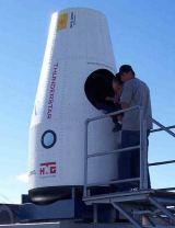 Obr. 12: Starchaser: maketa kabiny Thunderstar