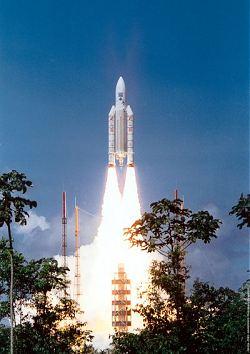Start rakety Ariane 5 (ilustrační foto).