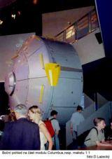 Maketa modulu Columbus pro ISS