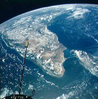 Pohľad na južnú časť Indie a Srí Lanku z výšky 1300 km © NASA
