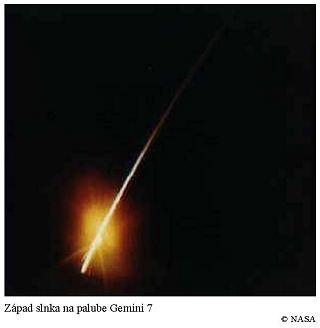 Západ slnka na palube Gemini 7