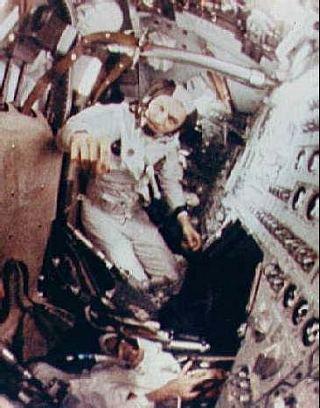 Frank Borman na palube Apolla 8