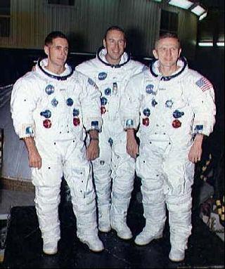 Posádka Apolla 8, zľava Anders, Lovell a Borman