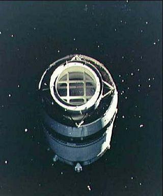 Posledný stupeň Saturnu V videný z paluby Apolla 8