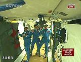 Posádka SZ-9 na palubě stanice TG-1 (18.06.2012)