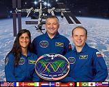 Expedice 15/1 (zleva: Williams[ová], Jurčichin, Kotov)