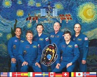 Expedice 31 (zleva: Acaba, Padalka, Revin, Kuipers, Kononěnko, Pettit)