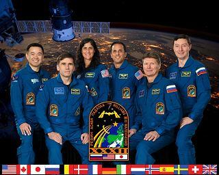 Expedice 31 (zleva: Hoshide, Malenčenko, Williamsová, Acaba, Padalka, Revin)