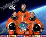 Expedice 4 na ISS (zleva Bursch, Onufrijenko, Walz)
