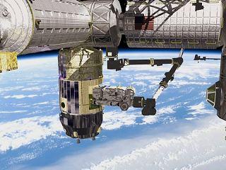 Loď HTV u ISS (kresba)