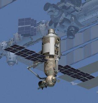 Kresba modulu Nauka u ISS