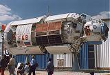 Neletový prototyp modulu na výstavě ILA'98