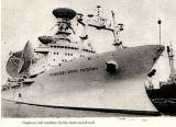 Obr.4) Vlajková loď sovětské flotily sledovacích lodí