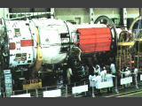 Montáž základního bloku stanice (1985)