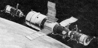 Družicová stanice Saljut 6 se dvěma kosmickými loděmi typu Sojuz