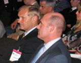 André Kuipers (vpravo) na svou kosmickou premiéru teprve čeká, Ernst Messerschmid (vlevo) ji už má dávno za sebou