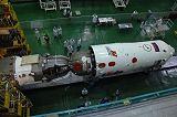 Sojuz TMA-11 při předstartovní přípravě (03.10.2007)
