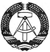 2) Státní znak Německé demokratické republiky