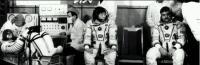 Posádka Sojuzu TM-11 před startem (02.12.1990)