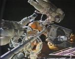Záběr z TV při výstupu 09.01.1998