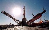 Sojuz TM-28 na rampě před startem