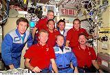 Setkání obou posádek v modulu Unity na ISS (08.12.2000)