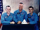 Posádka Apolla 1 (zleva White, Grissom, Chafee)