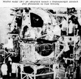 Měsíční modul LM-1 při vibračních testech v Grummanových závodech před převezením na Cape Kennedy