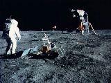 Aldrin z Apolla 11 u souboru EASEP (21.07.1969)