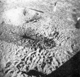 Naposledy jsem se podíval na šedočerný povrch Měsíce, pokrytý spoustou rýhovaných šlépějí