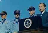 Prezident Nixon s posádkou Apolla 13