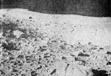 Pohled na balvanové pole na severozápad od měsíčního modulu