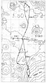 Mapa měsíčních vycházek (vrstevnice po 50 m)