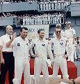 Posádka Apolla 7 po přistání
