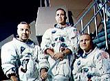 Posádka Apolla 8 (zleva Lovell, Anders a Borman)