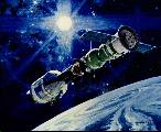 Kresba spojení lodí Sojuz a Apollo
